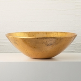 Latrice Lacquered Bowl | Gold Leaf