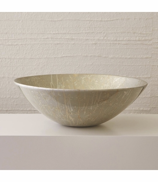 Latrice Lacquered Bowl | Gold & Silver Leaf