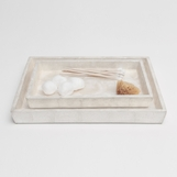 Leeds Shell Tray Set | Pearl