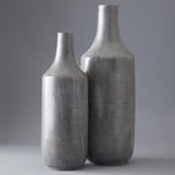 Lennox Faux Shagreen Bottle Vases Set
