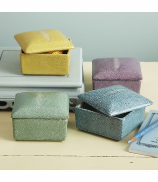 "Lennox ""Shagreen"" Ceramic Boxes 