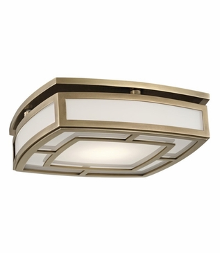 Leonard Flush Mount | Antique Brass