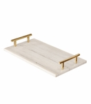 Leto Marble Tray | Brass