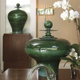 Ling Green Ceramic Jars
