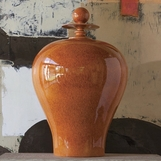 Ling Orange Ceramic Jar | Tall