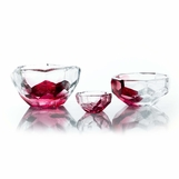 Lingo Glass Bowls | Red