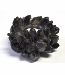 Lola Gemstone Votives | Black Quartz