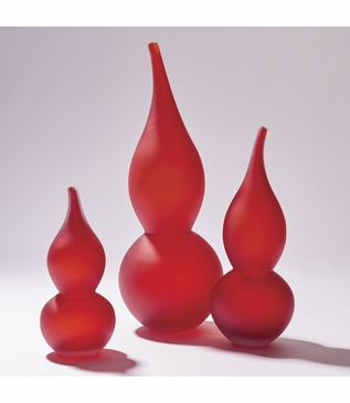 Lombard Gourd Vases Set | Red