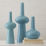 Lorene Ceramic Vases | Ice Blue