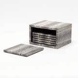 Loretto Snake Coasters Set | Grey