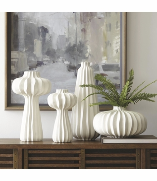 Lorro Ceramic Vases | White