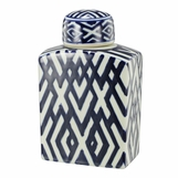 Louisa Porcelain Jar | Rectangular