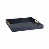 Louise Rectangular Laquered Tray | Navy