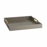 Louise Rectangular Laquered Tray | Taupe