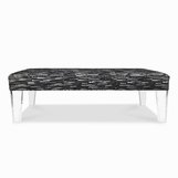 Luciano Lucite Bench, Untufted