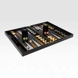 Luigi Lucite Backgammon Set | Black