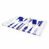 Luigi Lucite Backgammon Set | Blue