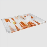 Luigi Lucite Backgammon Set | Orange
