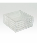 Luis Lucite Coasters Set | Black