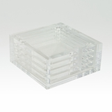 Luis Lucite Coasters Set | Clear
