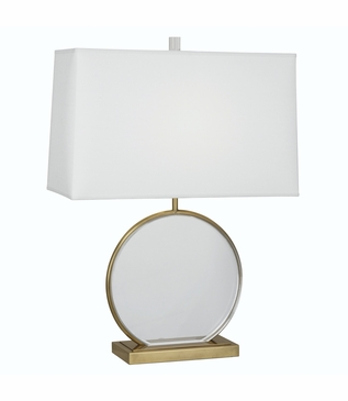 Lynette Lucite Table Lamp | Antique Brass