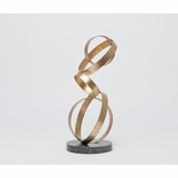 Lyra Iron Sculpture | Gold