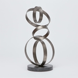Lyra Iron Sculpture | Silver