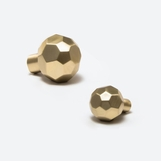 Machina Faceted Knobs | Brasses