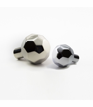 Machina Faceted Knobs | Chrome & Nickel