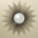 Majestic Sunburst Large Mirror | Nickel