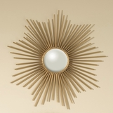 Majestic Sunburst Small Mirror | Brass
