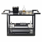 Maka Bar Cart | Black Lacquer