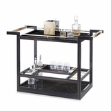 Maka Bar Cart | Ebony Macassar