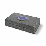 "Mako Grey ""Shagreen"" & Agate Boxes 