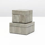 Manoa Snakeskin Boxes Set | Grey