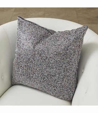 Marcia Beaded Pillow | Silver