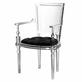 Marilyn Lucite Armchair | Black