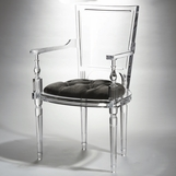 Marilyn Lucite Armchair | Grey