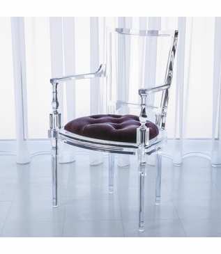 Marilyn Lucite Armchair | Purple