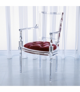 Marilyn Lucite Armchair | Red