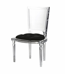 Marilyn Lucite Side Chair | Black