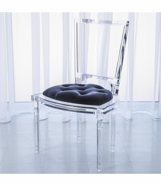 Marilyn Lucite Side Chair | Blue