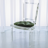Marilyn Lucite Side Chair | Green