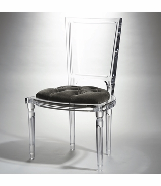 Marilyn Lucite Side Chair | Grey