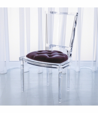 Marilyn Lucite Side Chair | Purple