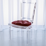 Marilyn Lucite Side Chair | Red