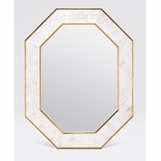 Marmora Shell Mirror | White