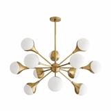 Marzo Chandelier | Antique Brass