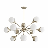 Marzo Chandelier | Pale Brass