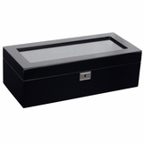 Matteo 5-Watch Box | Black Lacquer